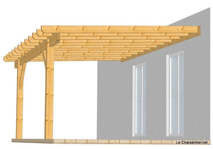 Progetto pergolato legno