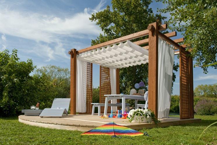Pergolato legno copertura
