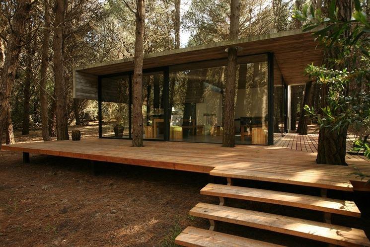 terrazzo legno terreno