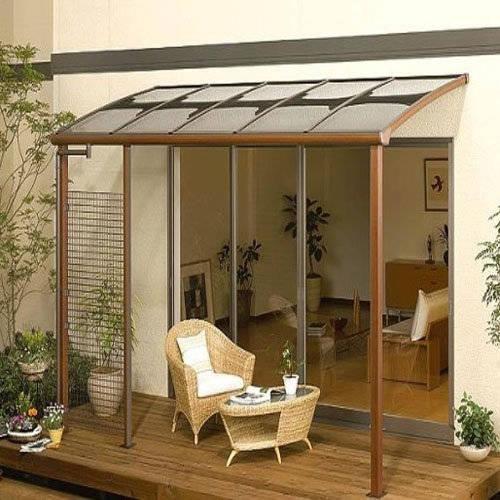 Diy Backyard Awning : TecTake Pensilina Tettoia in policarbonato per porta o finestra per