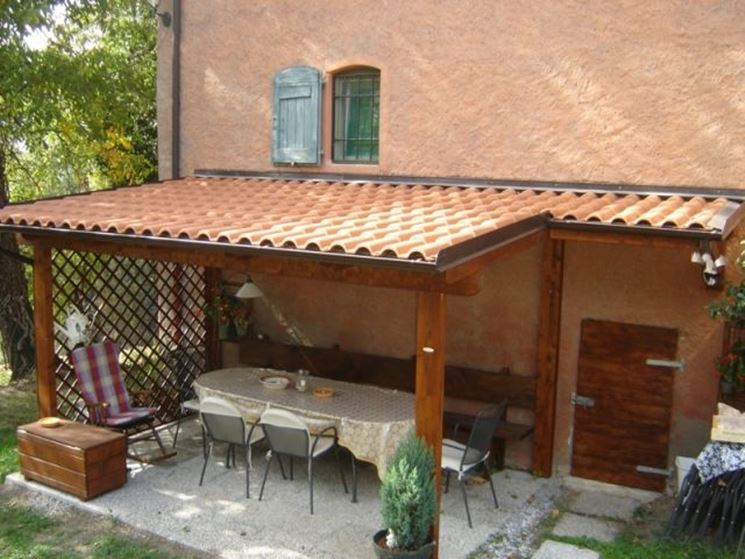 Eccellente tettoie in legno immagini ux19 pineglen - Fai da te arredo giardino ...