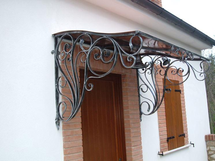 tettoia in ferro