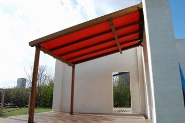 Esempio tettoia lamellare