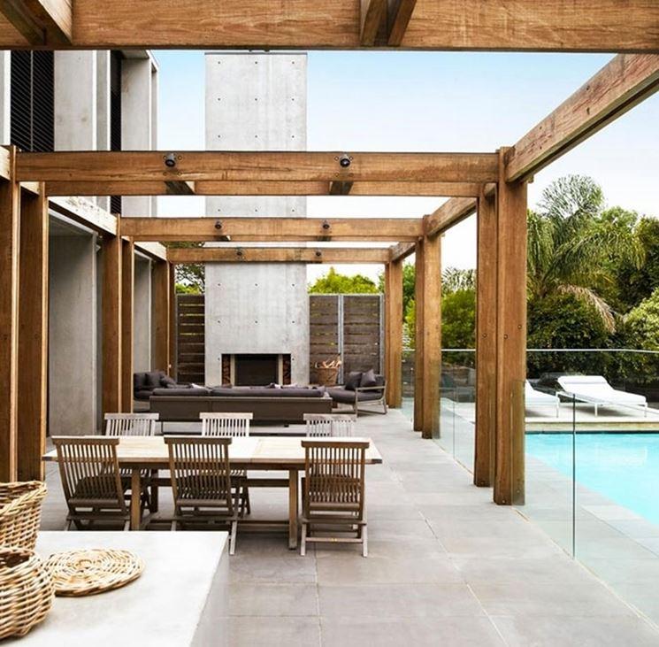tettoie in legno fai da te - pergole e tettoie da giardino - come