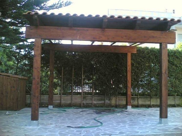 Tettoie in legno pergole e tettoie da giardino - Tettoie da giardino in ferro ...