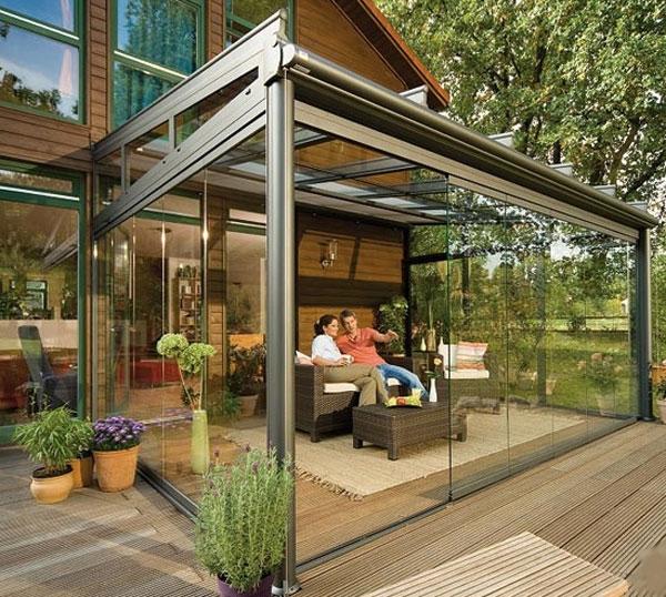 Verande esterne - Pergole e tettoie da giardino - Veranda esterna arredi