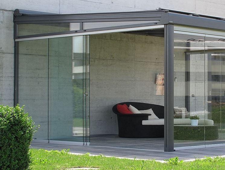 Verande per terrazzi pergole e tettoie da giardino - Pareti vetrate esterne ...