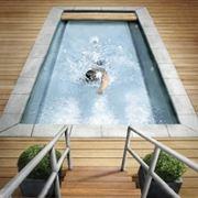piscina in acciaio.