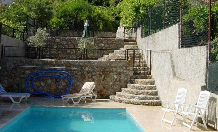 piscina e muro.