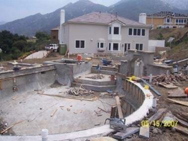 costruzione piscina.