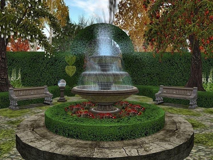 Fontana con giochi d'acqua