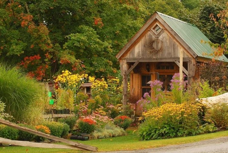 Un giardino rustico