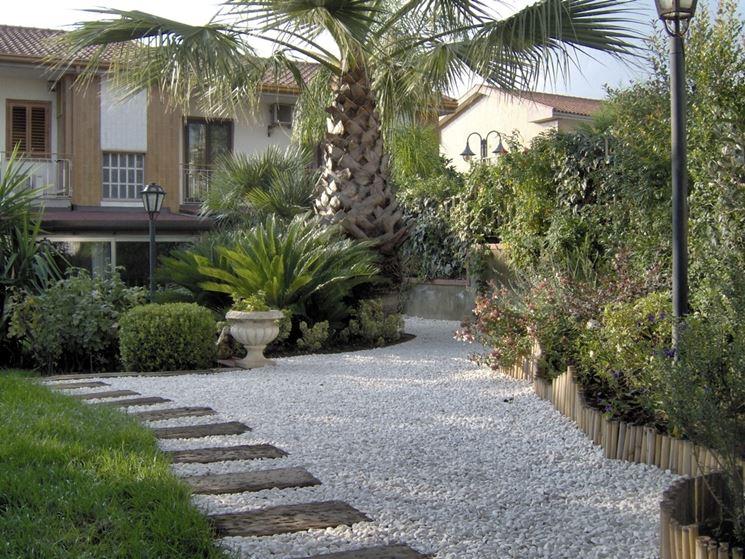 Ghiaia da giardino progettazione giardini ghiaia per for Giardini zen da casa