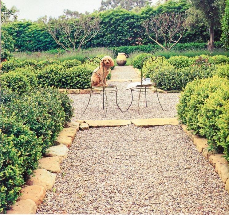 ghiaia per giardino - progettazione giardini - giardino con ghiaia - Piccolo Giardino Con Ghiaia