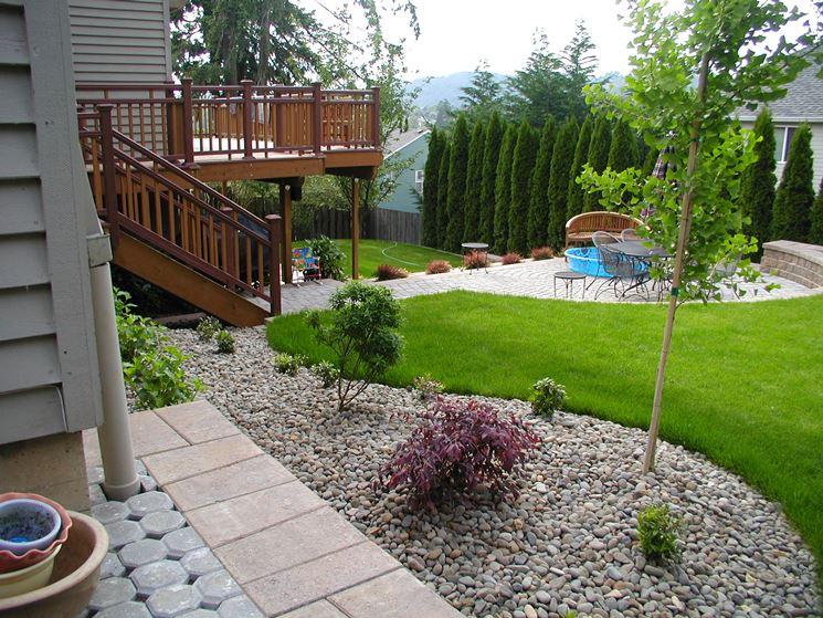 Ben noto Ghiaia per giardino - Progettazione giardini - Giardino con ghiaia SJ73