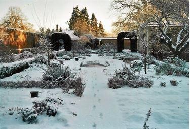 giardino innevato