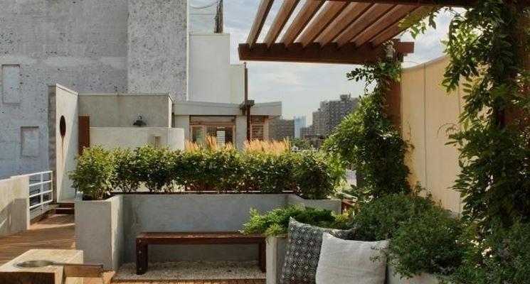 Piccolo giardino in terrazzo