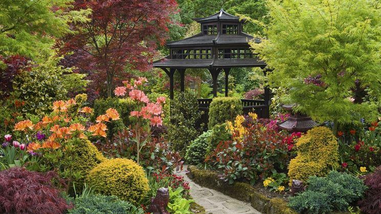 L'immagine di un giardino giapponese