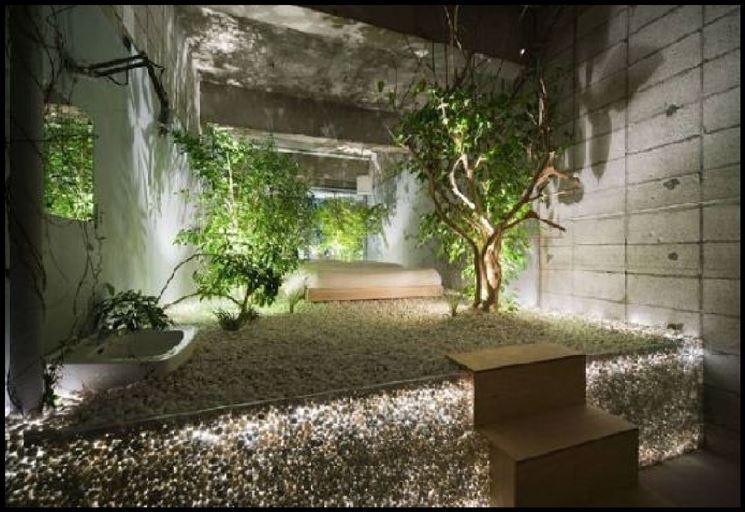 giardino interno lussuoso