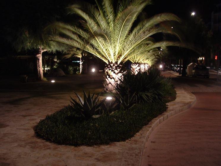 Illuminazione di giardino privato