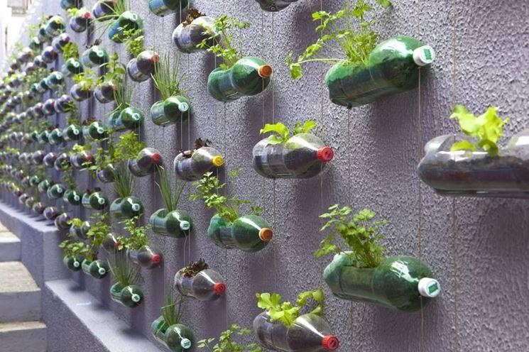 Giaridno verticale di bottiglie