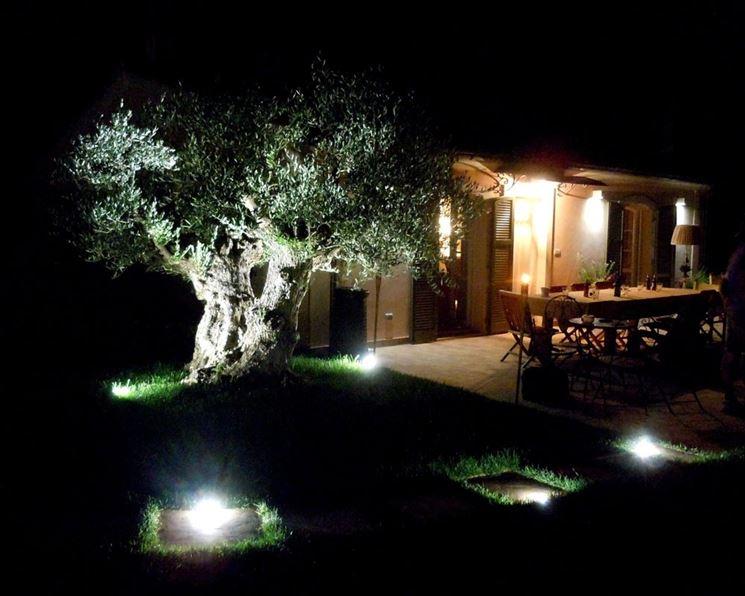Illuminazione giardini privati