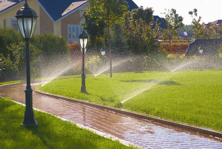 Irrigatori in funzione