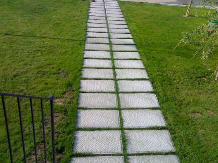 Pavimentazione giardino tutte le offerte cascare a fagiolo - Vialetti giardino in porfido ...
