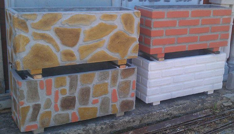 Fioriere cemento vasi e fioriere fioriere in cemento - Fioriere da esterno in pietra ...