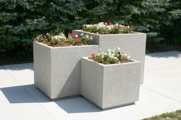 fioriere in cemento