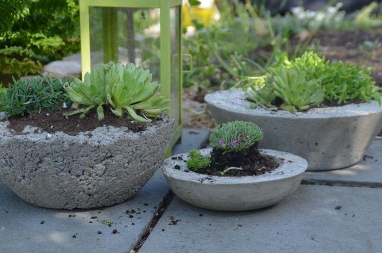 fioriere in cemento grezzo