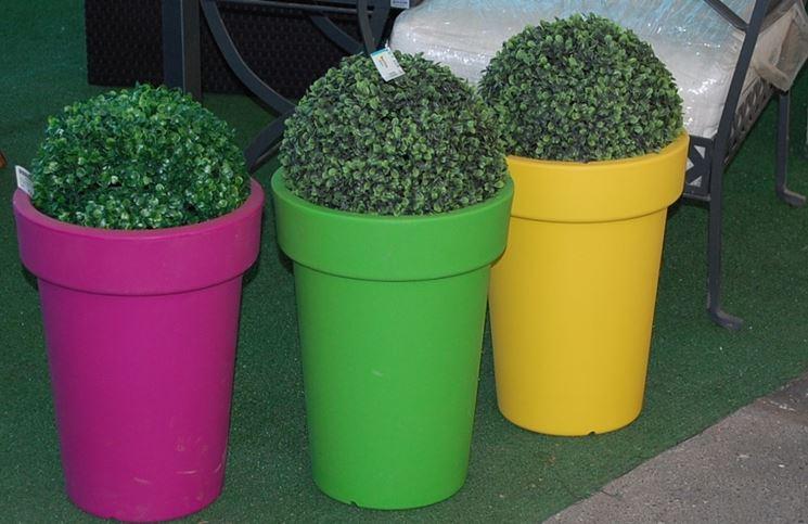 Vasi in resina da esterno vasi e fioriere vasi per esterna in resina - Vasi colorati esterno ...