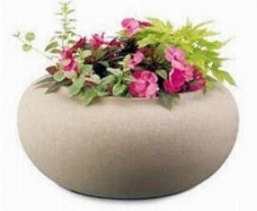 Esempio di vaso tondo in resina