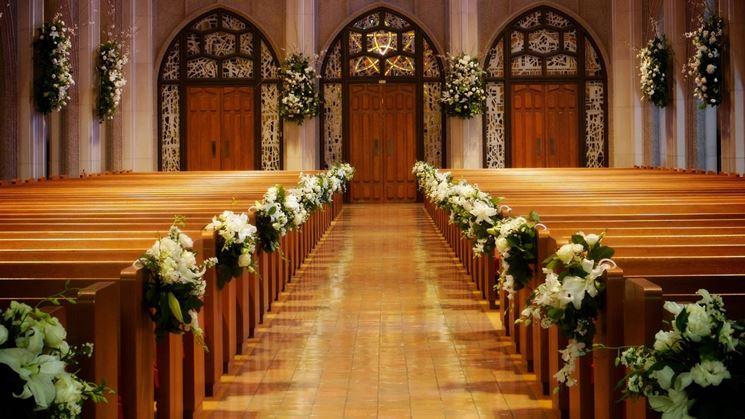 Molto Addobbi floreali matrimonio chiesa - Fiori per cerimonie - Fiori  RC01