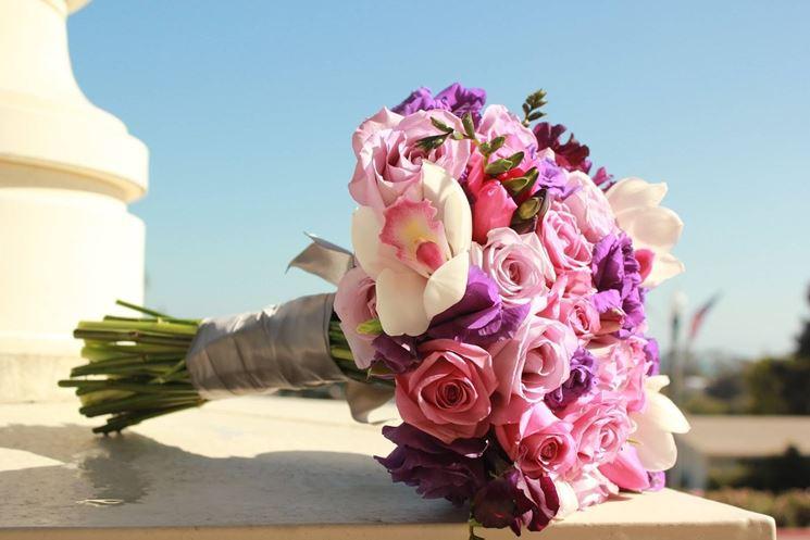 Fiori lilla e rosati