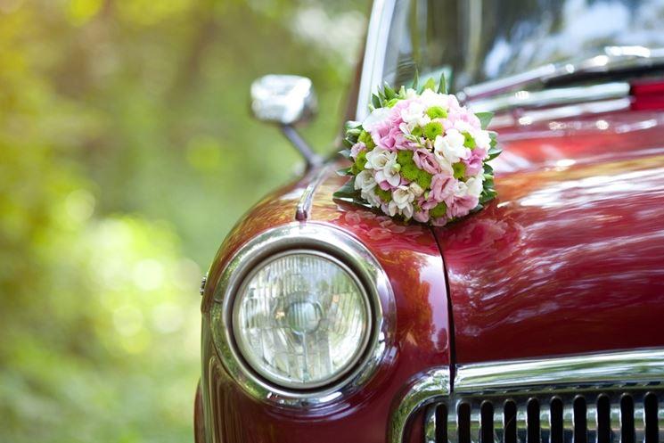 fiori matrimonio per auto