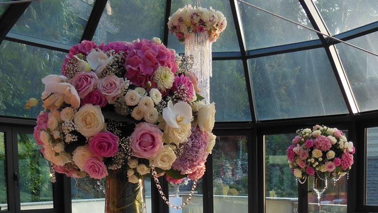 Composizione floreale realizzata in un corso per fioristi