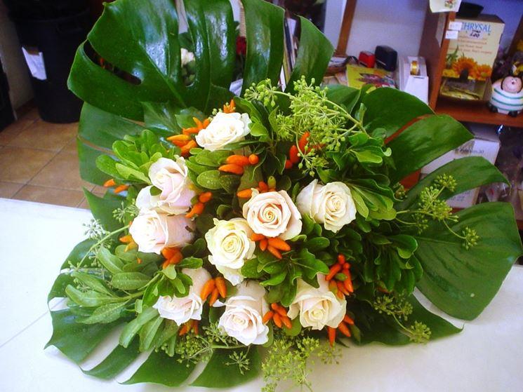 Composizione realizzata in un corso per fioristi