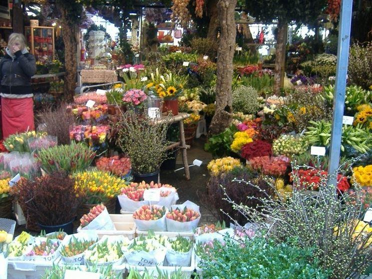 Un mercato di fiori