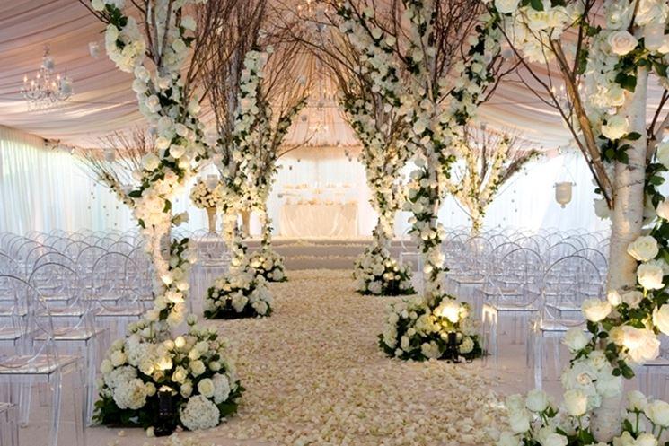Fantastica composizione di fiori per un matrimonio