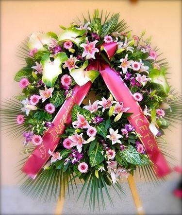 Corona funebre per chiesa