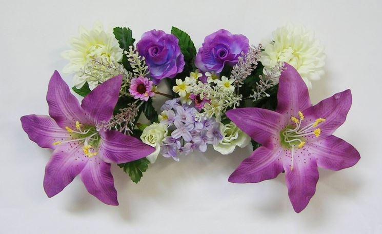 addobbi fiori viola