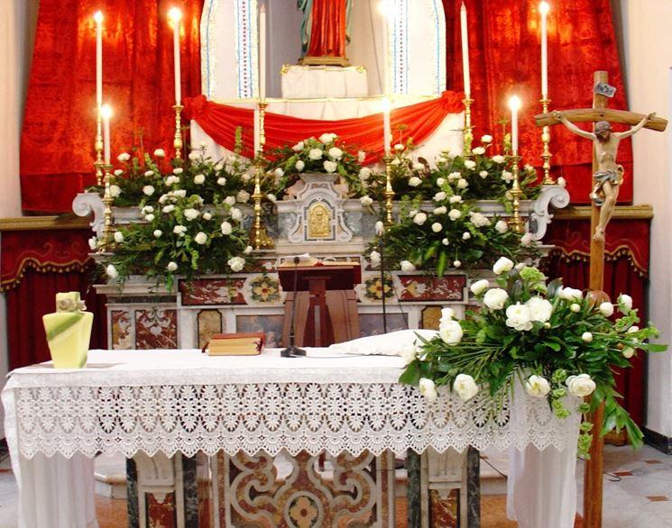 Candele addobbi chiesa