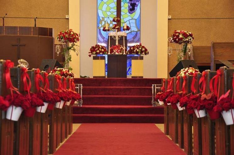 Addobbi matrimonio in rosso