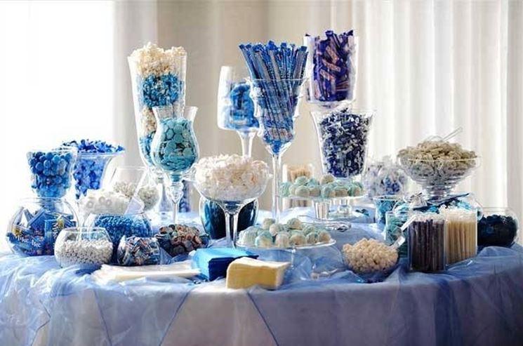 Addobbi matrimonio in blu