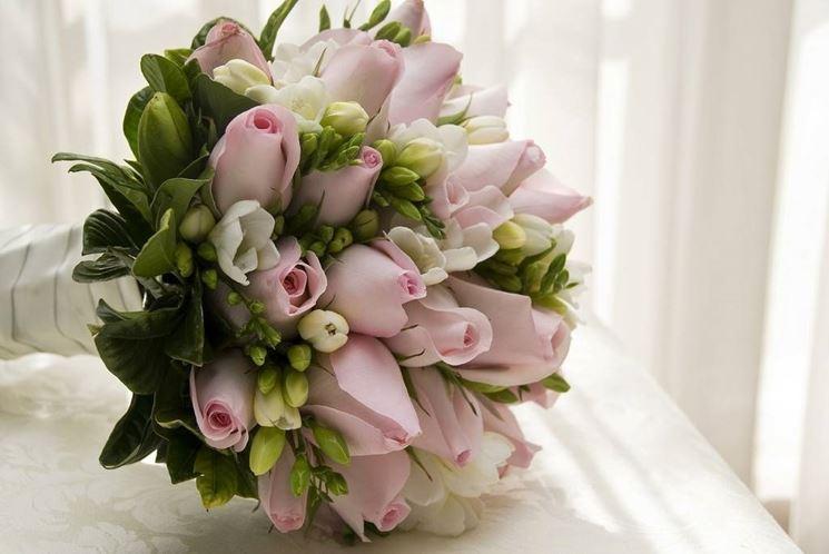 Bouquet da sposa a scettro