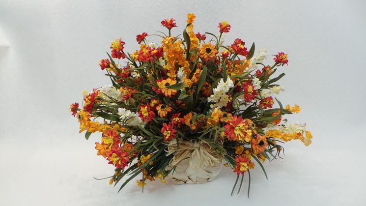 Composizione fiori regalare fiori creare composizioni for Fiori artificiali