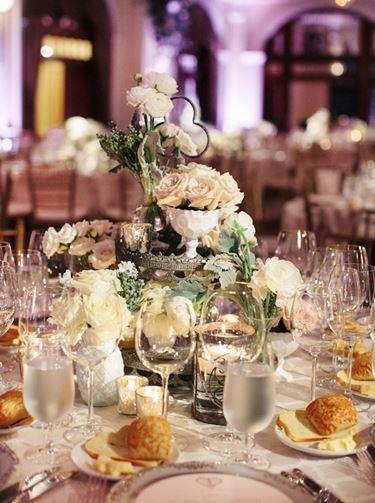 Composizione floreale matrimonio: centrotavola