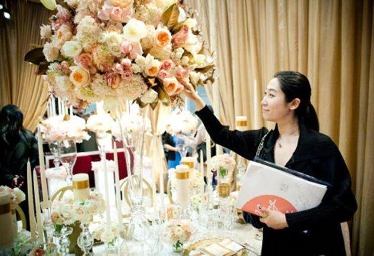 Composizione di fiori per matrimonio