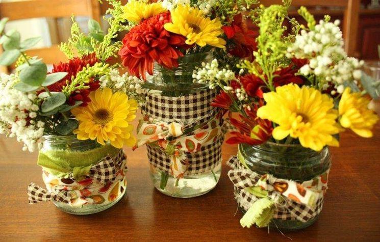 Composizioni floreali fai da te regalare fiori come for Fiori semplici